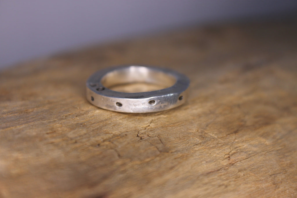 personalized thick silver band by SFDesigns