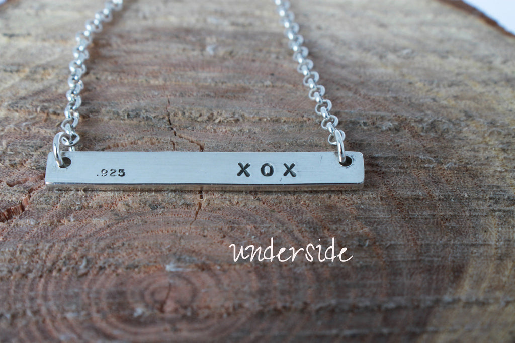 custom sterling silver bar necklace by SFDesigns