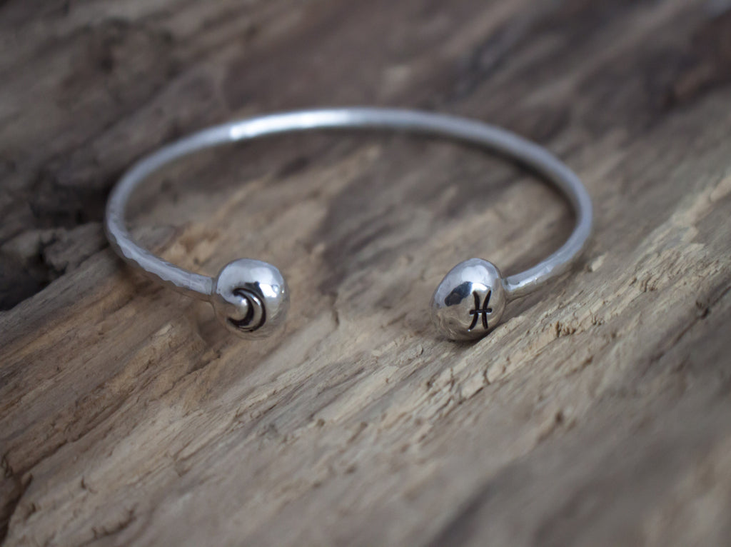 Zodiac sterling silver cuff by SFDesigns