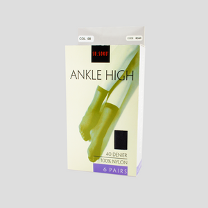 Ankle High packaging
