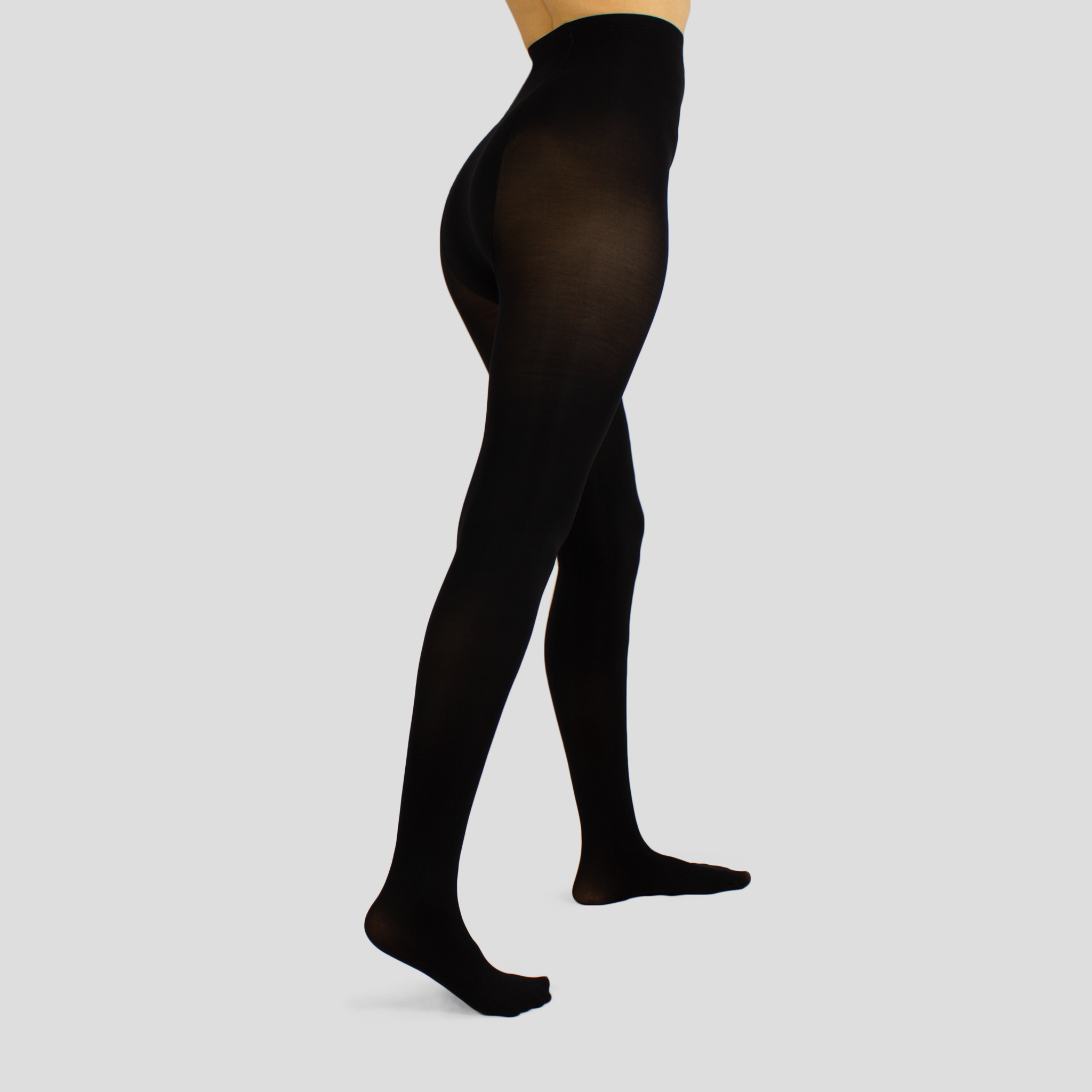 Opaque covered tights, colour black