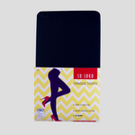 Opaque covered tights packaging, colour black