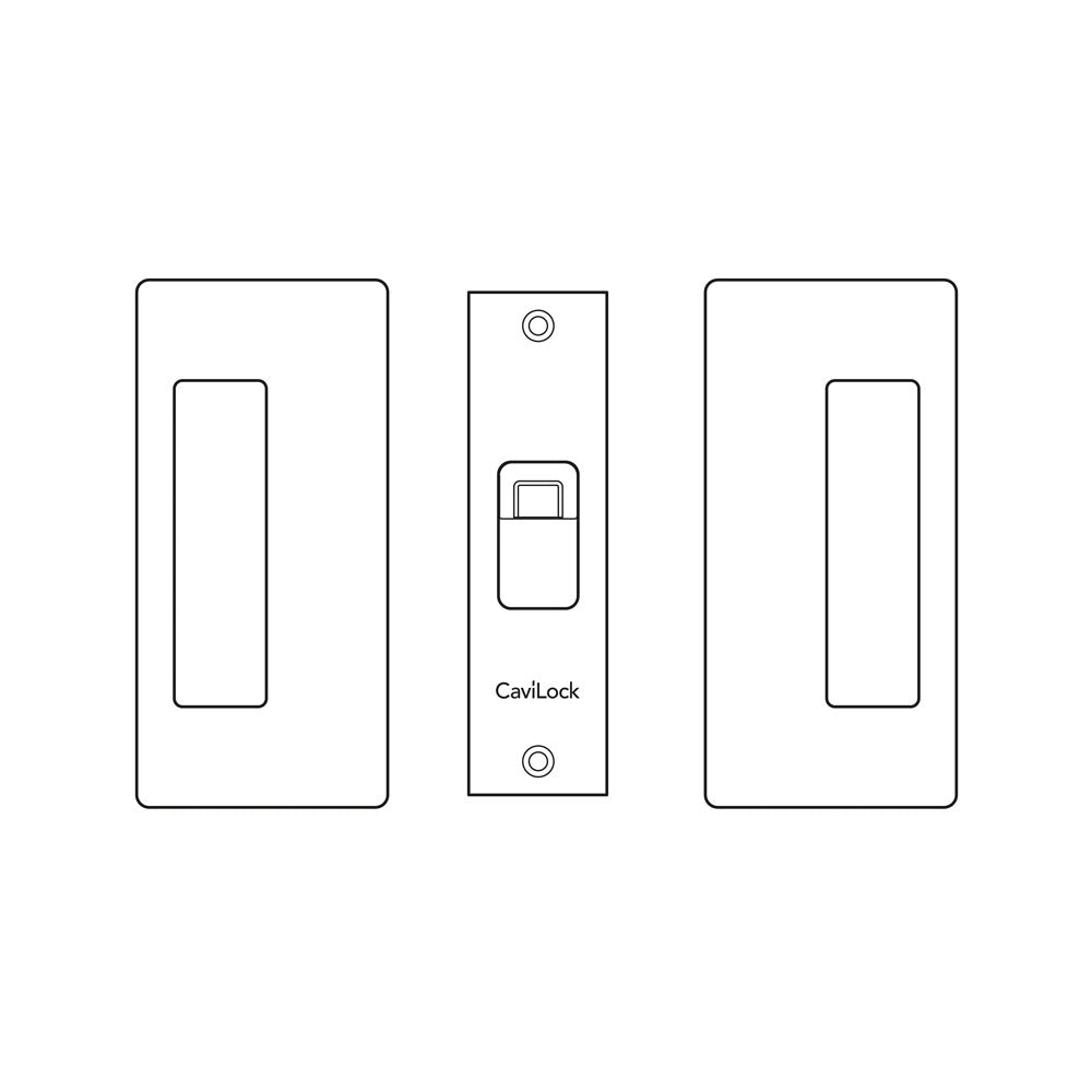 Cavilock CS CL205C - Bi-Parting Mate (to latch with privacy) [Magnetic Latch]