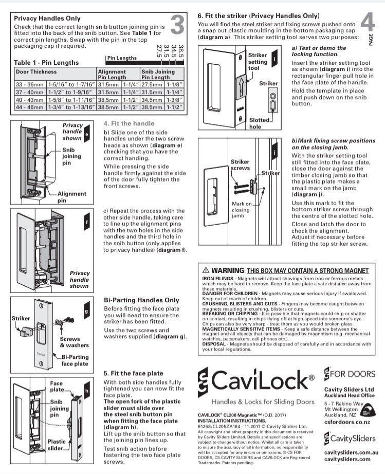 Cavilock CS CL205A - Passage [Non-Magnetic]