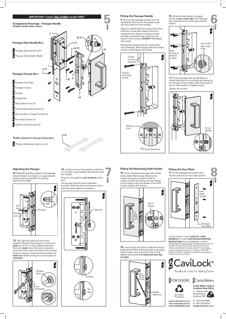 Cavilock CS CL406D ADA - Bi- Parting - Offset Passage [Non Magnetic and Magnetic]