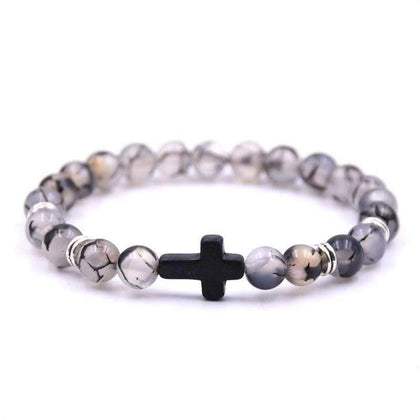 Bead Cross Bracelet