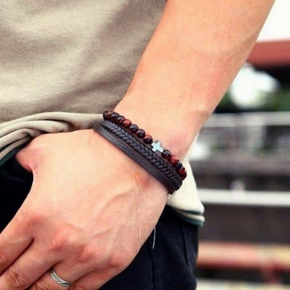 Men's Cross Bracelet