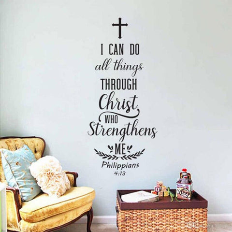i can do all things through christ who strengthens me wall art