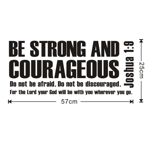 be strong and courageous wall art joshua 1 9