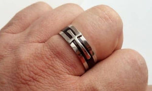 christian mens ring