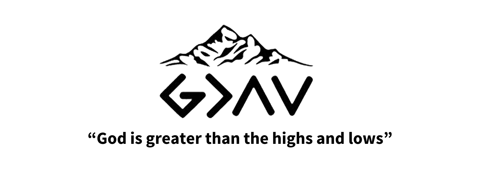 "The Meaning Behind the Symbol ""God is greater than the highs and lows"""