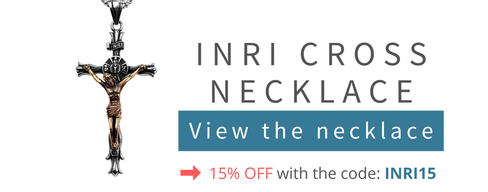 INRI cross necklace