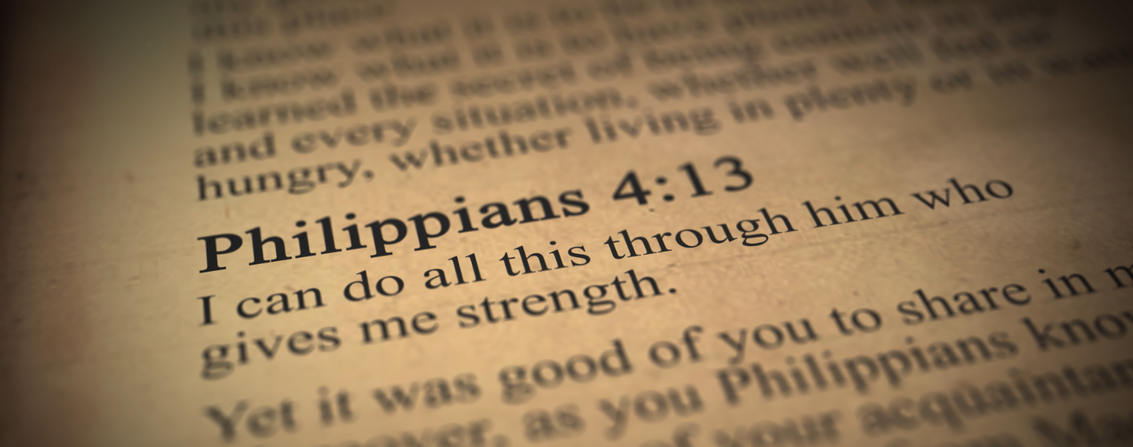 The Misuse of Philippians 4:13