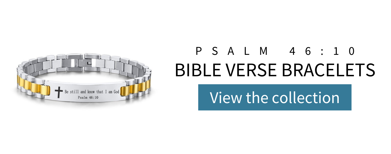 psalm 46 10 bible verse bracelet collection