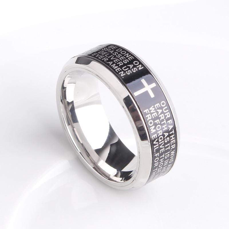 Spinner Ring  The Lord's Prayer