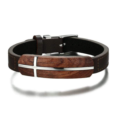 Cross Bracelet with Rosewood