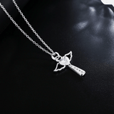 Cross Necklace with Angel Wings