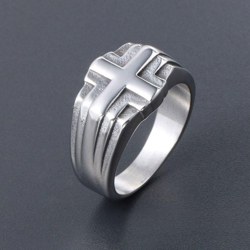 mens christian ring with cross