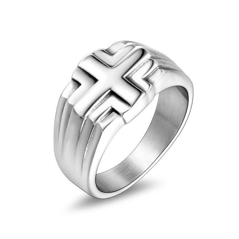 stainless steel christian ring