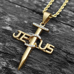 jesus nail necklace stainless steel