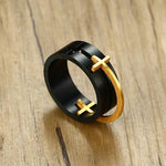 Christian ring removable cross