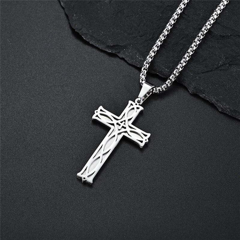 mens cross necklace christian