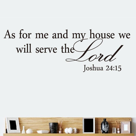 Joshua 24 15 wall art