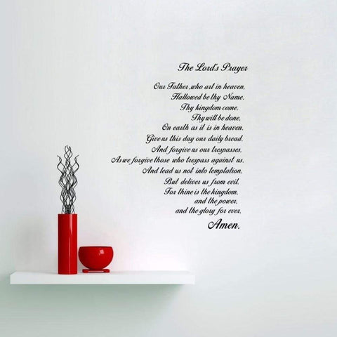 The Lord's Prayer | Christian Wall Art Sticker