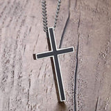 cross necklace made with stainless steel