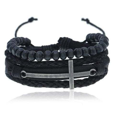 adjustable cross bracelet