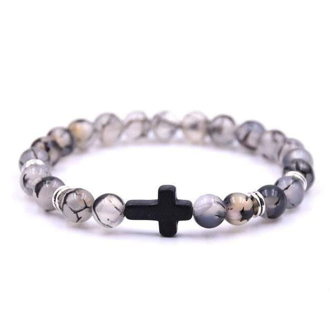 Beads With Cross Bracelet