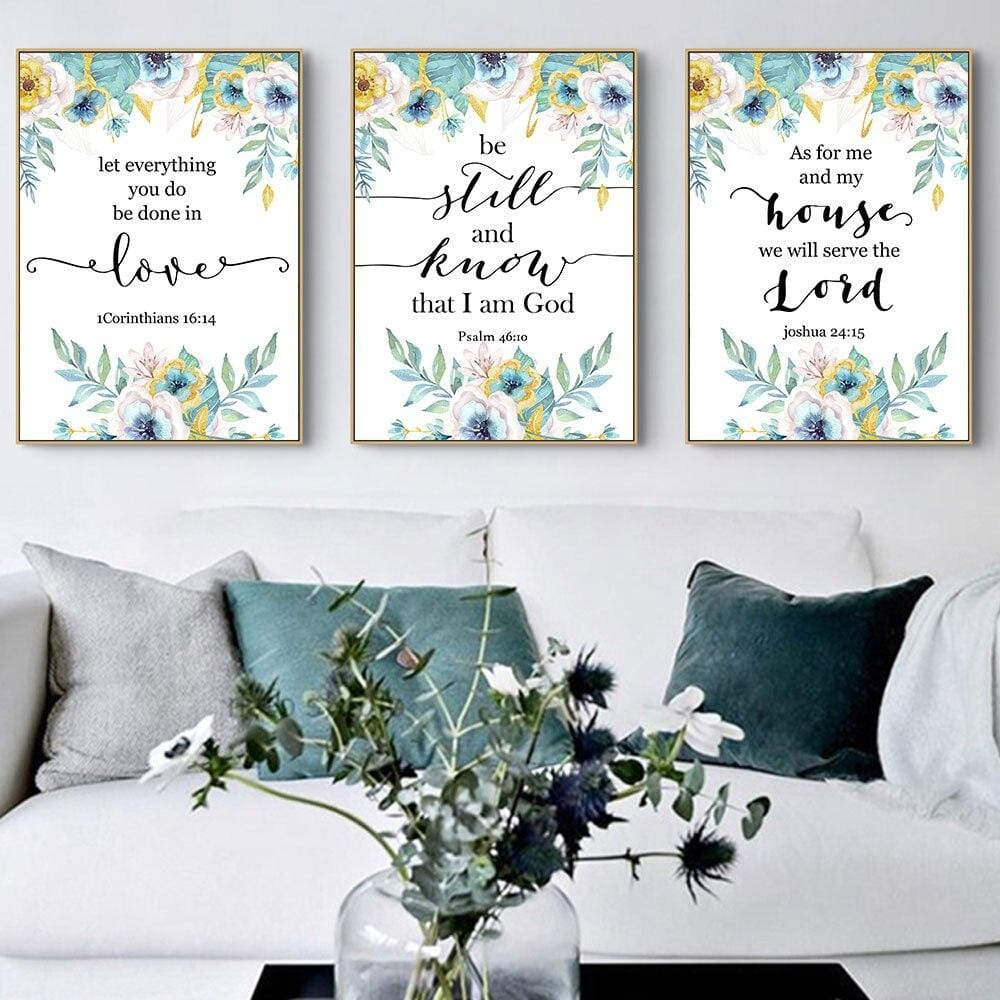 Bible Verse Wall Art<br> We Will Serve The Lord