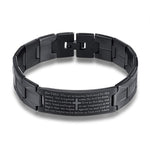 Men's Lord's Prayer Bracelet black