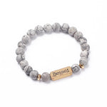 blessed bracelet bead slate grey