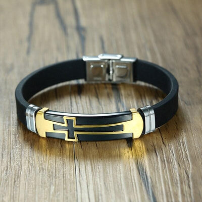 Gold Cross Bracelet for Mens