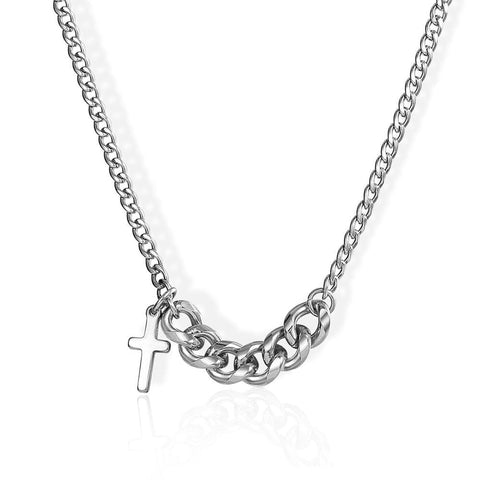 Choker Chain Cross Necklace