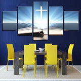 Christian Canvas Art<br> White Cross Wall Art