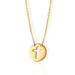coin cross necklace