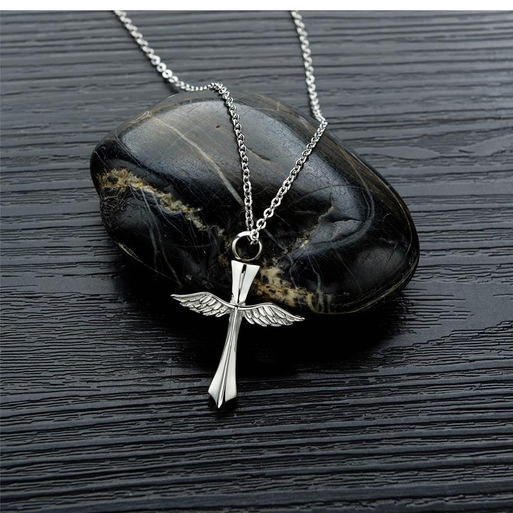 Cross and Wing Necklace for Men