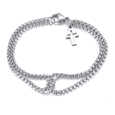 Men's Cross Bracelet Chain