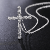Diamonds Cross Necklace for Women