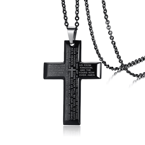 Cross With Lord's Prayer Necklace