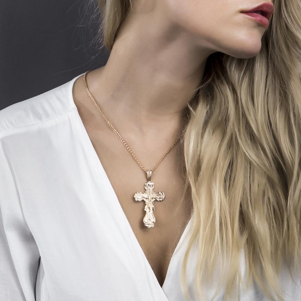 Copper Crucifix Necklace for Christians