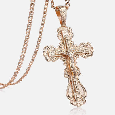 Crucifix Necklace made with Copper