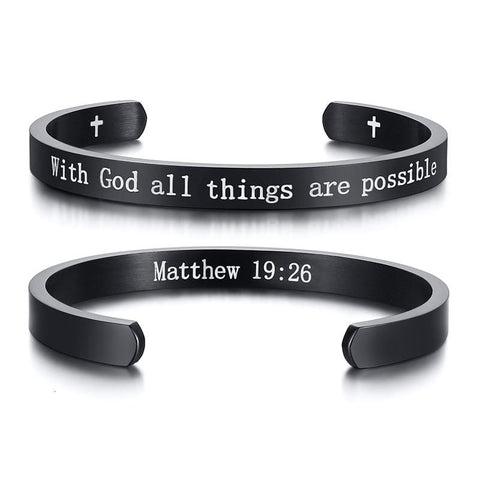 cuff bracelet with bible verse