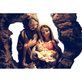 Christian Figurine<br> Mary Joseph And Jesus LED Decor
