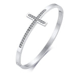 Diamond Cross Bracelet For Womens