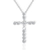 Diamond Cross Necklace Womens