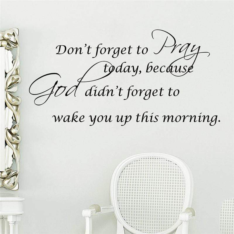 don't forget to pray wall art sticker