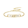 faith bracelet gold